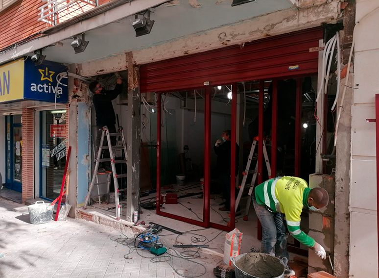 Obra de Estanco en Calle Foso de Aranjuez